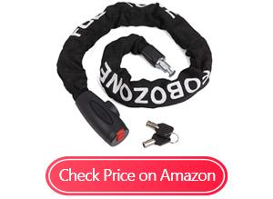 fubozone heavy duty bike chain locks