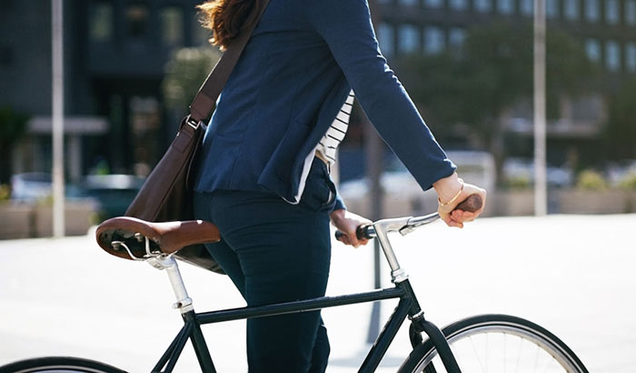 why use a messenger bag when riding in a bike