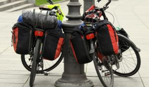 how to carry multiple bags while riding bike